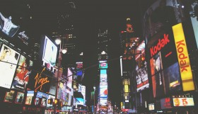 Times Square voorbeeld lichtreclame