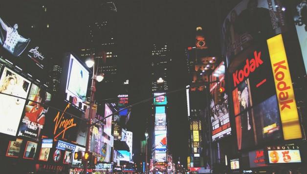 Times Square voorbeeld lichtreclame