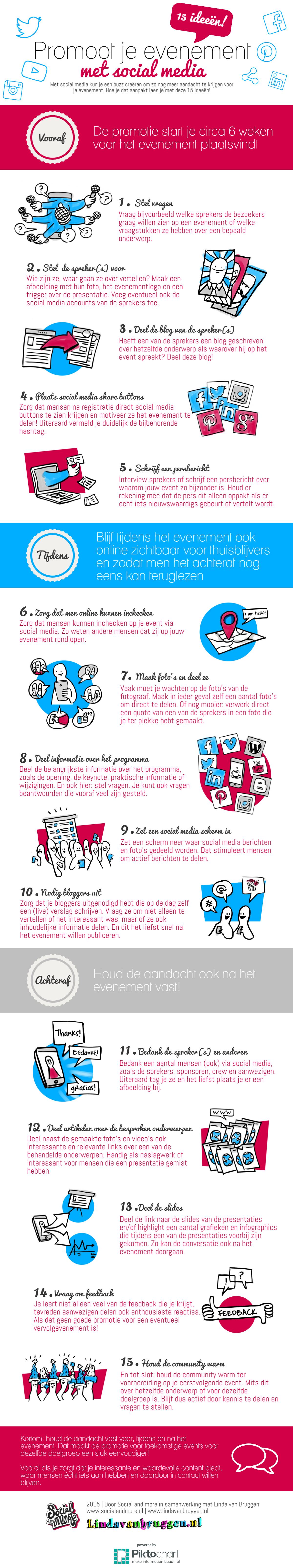 Infographic - social media bij je evenement