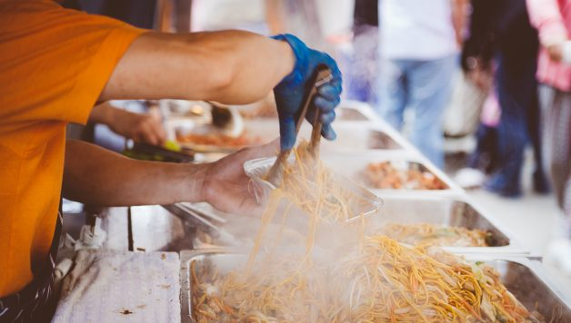Food festival foto met eten