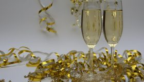 champagne voor een nieuwjaarsfeest